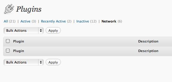 network plugins as normal admin